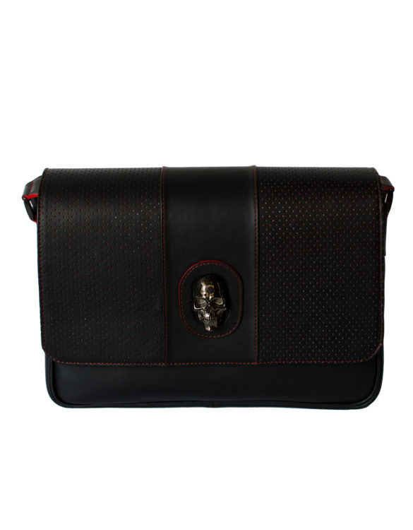 Leather sport black briefcase