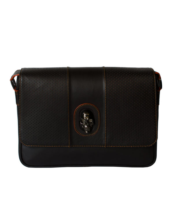 Leather sport brown briefcase