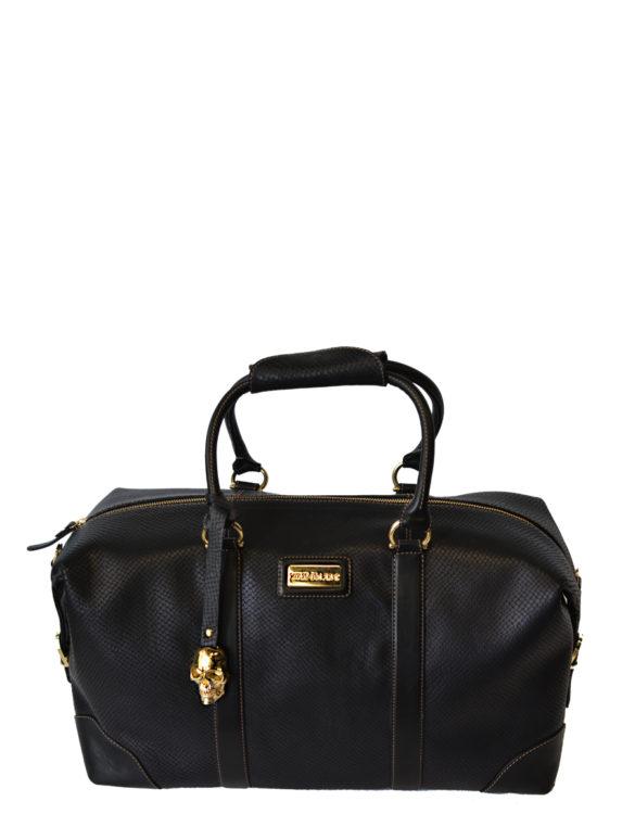 Hand made black travel bag