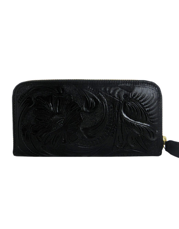 Chiselled wallet black