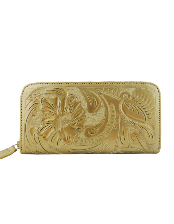 Chiselled wallet gold