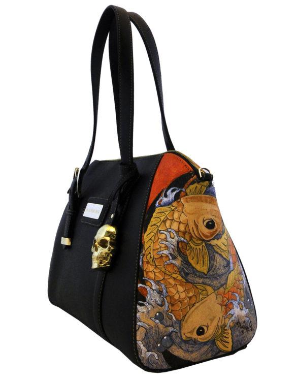 Bag prison art for Koi fish purse