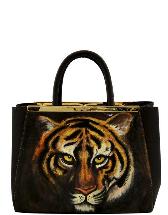 Wish handmade leather tattoo tiger