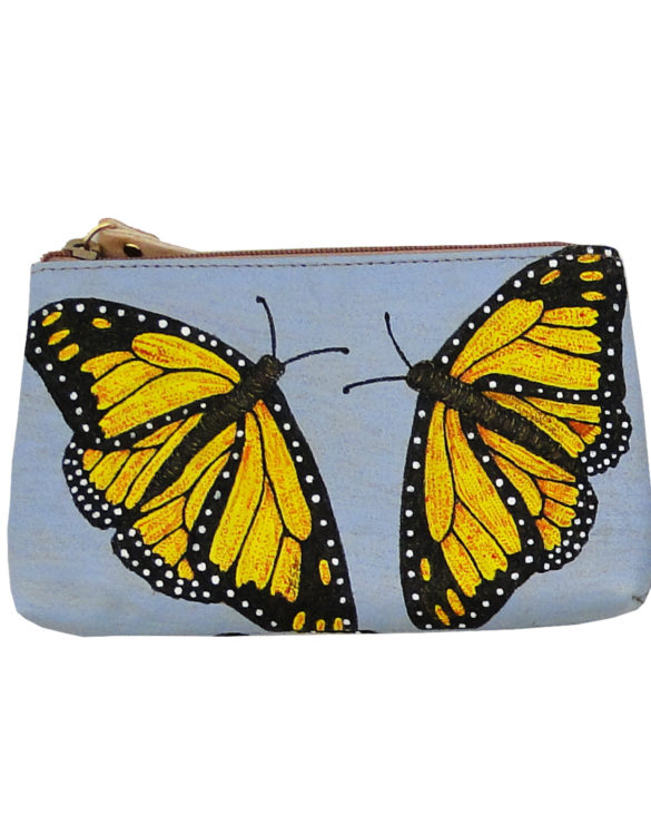Makeup bag handmade tattoo butterflies