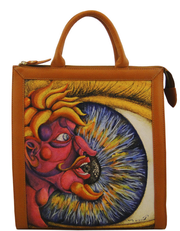Vertical handmade tattoo leather eye portfolio