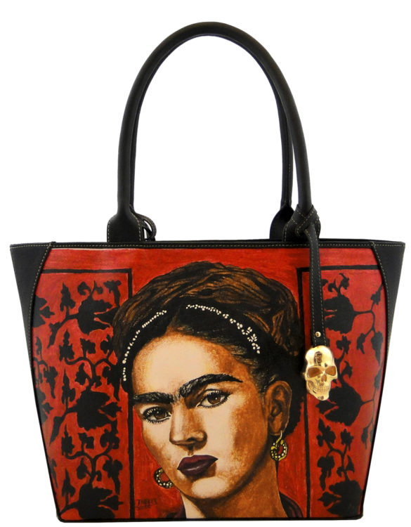Oval handmade tattoo leather Frida bag