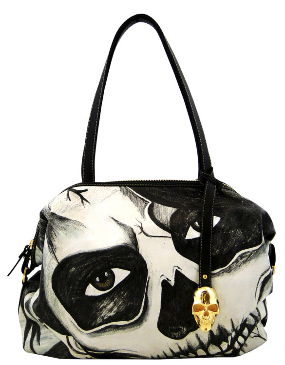 Loose handmade tattoo skull bag