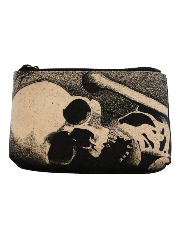 Makeup bag handmade tattoo skull