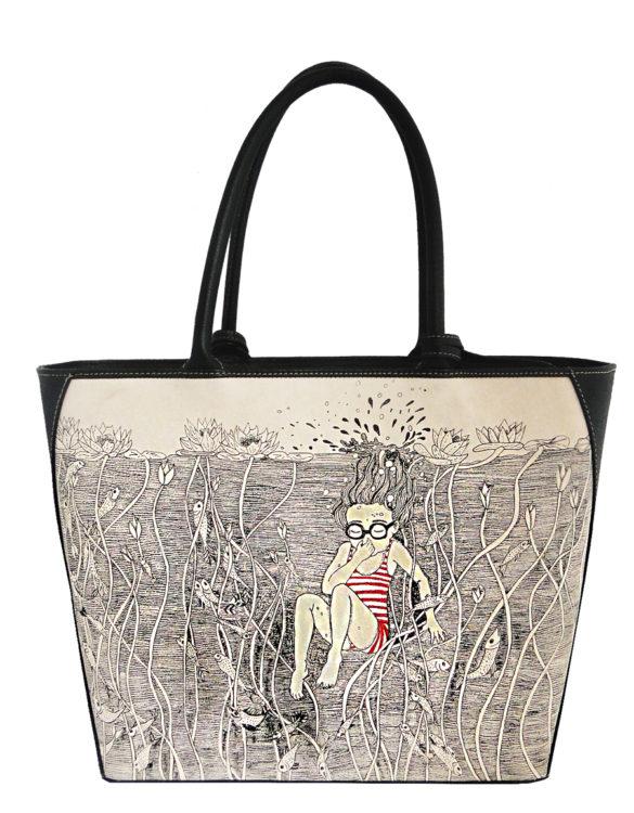 Oval handmade tattoo leather girl bag