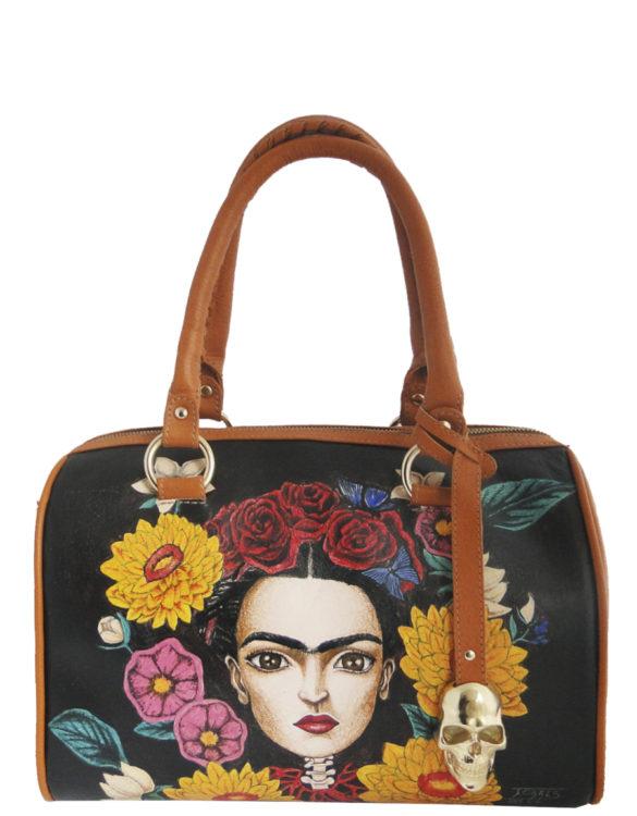 Barrel hand made tattoo Frida bag