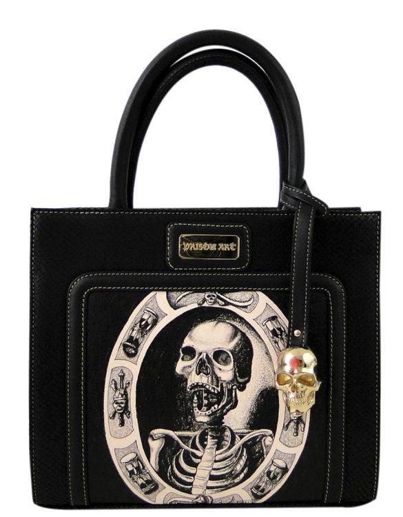 Horse leather purse hand made tattoo skull