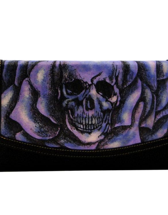 Jalisco handmade tattoo purple skull big cluth