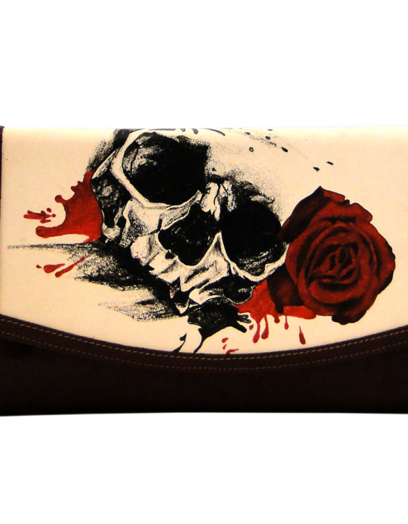 Jalisco handmade tattoo skull and roses big cluth