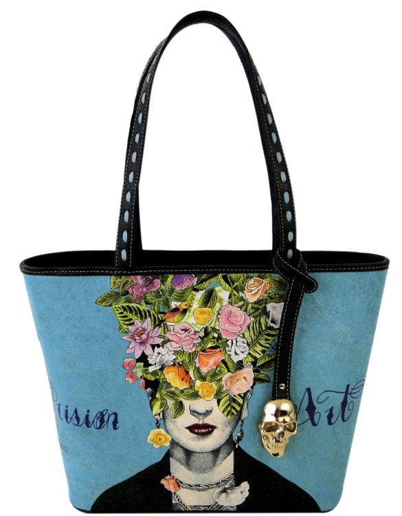 No side handmade tattoo leather bag Frida