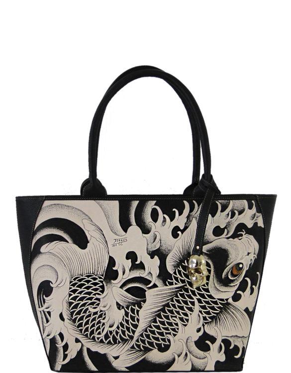 Prison art tattoo art bag for Koi fish purse